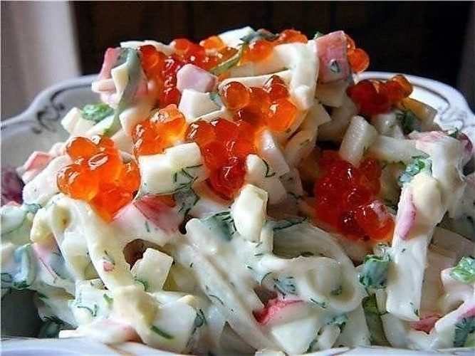 Самый вкусный салат из кальмаров рецепты с