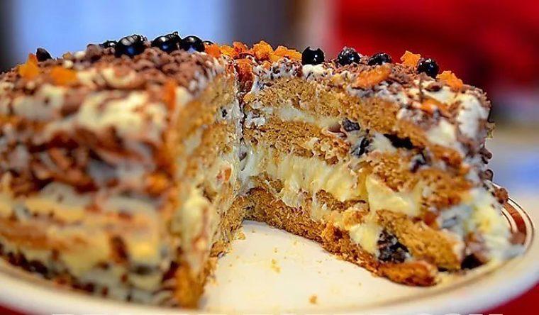 Торт трухлявый пень простой рецепт пошагово