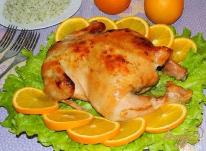 Курица с апельсинами в духовке отзывы