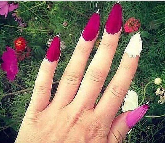 Ногти из лепестков цветов как в детстве