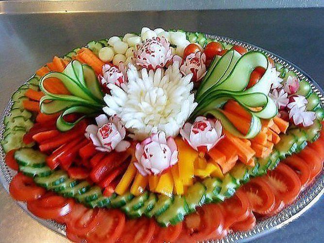 Украшение стола овощами на день рождения