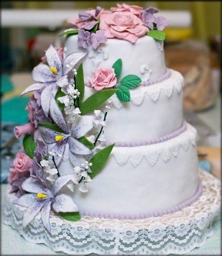 Самые проверенные рецепты - Цветы из мастики для торта