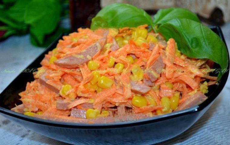 Салат из копченой колбасы рецепт с очень вкусный