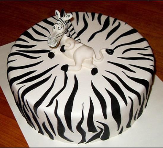 Как сделать зебру на торте