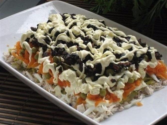 Салат с черносливом с курицей в домашних условиях рецепт с
