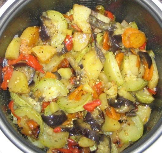 Овощное рагу в мультиварке рецепт с фото с рисом