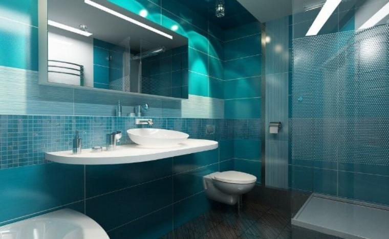 Бирюзовая ванная комната дизайн фото