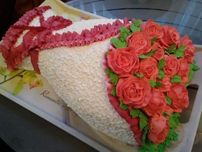 Торт из мастики фото колечки пожалуйста