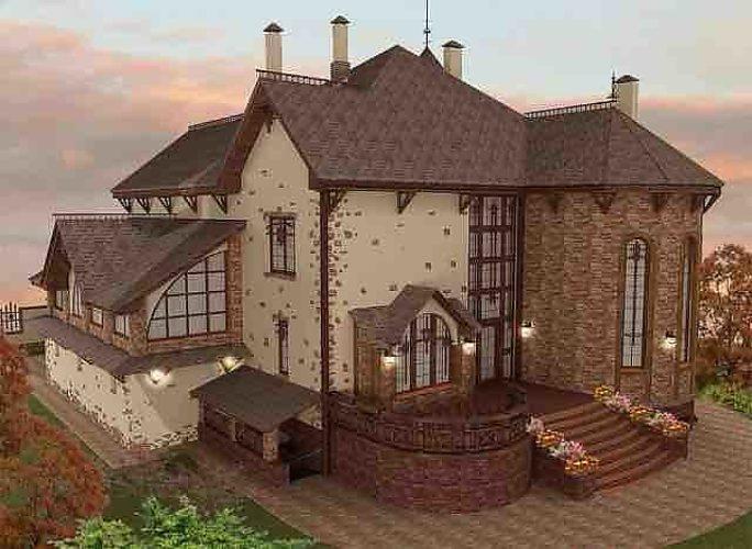 фото красивых дизайнов загородных домов #10