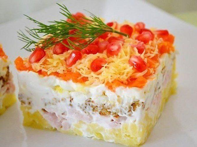 Слойоні салати рецепти з фото