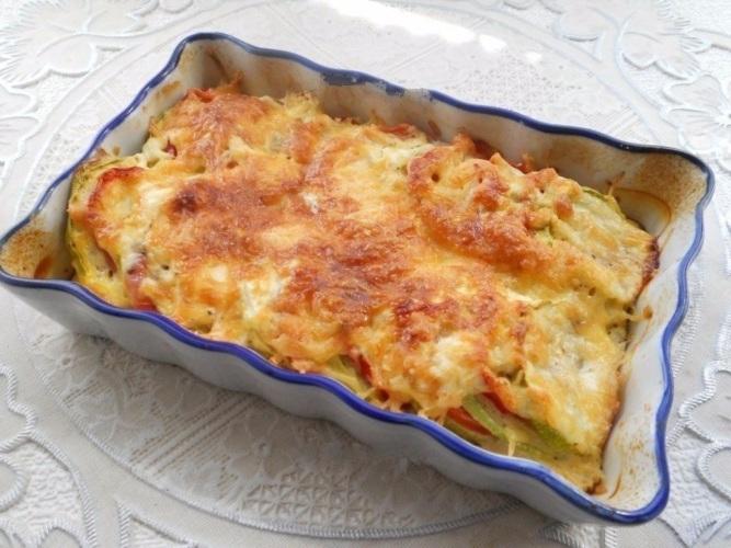 сдать запеканка кабачковая с помидорами и сыром свежие