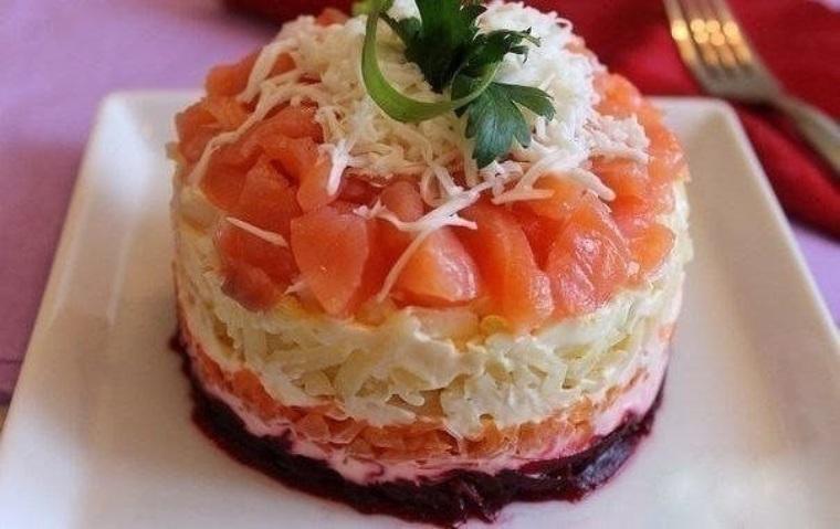 красная рыба под шубой салат рецепт с фото