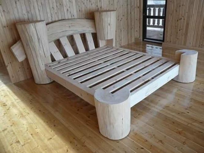 Кровать из реек своими руками