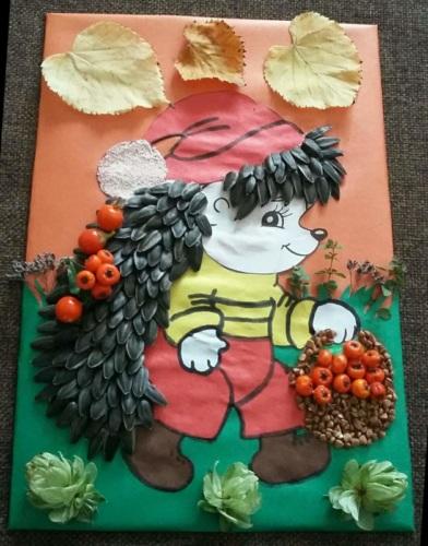 Осенняя поделка в детский садик ежик