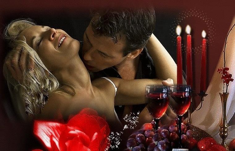 Живые картинки с поцелуями для любимого мужчины, девушка